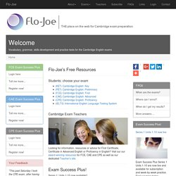 Flo-Joe for First Certificate, Certificate in Advanced English a