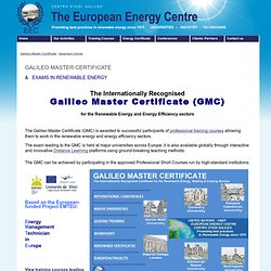 Renewable Energy Qualifications