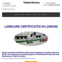 Landlord certificate in London Residential, businesses ,Letting Agents
