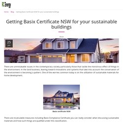 Getting Basix Certificate NSW for your sustainable buildings - RC Energy