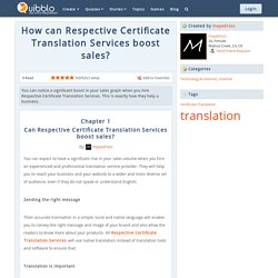 Get Guide How Respective Certificate Translation Services boost sales?