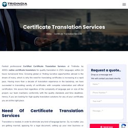 Certificate translation services near you at discounted price