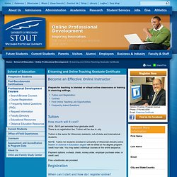 Elearning and Online Teaching Graduate Certificate