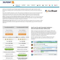 Cheap Geo Trust EV SSL Certificate
