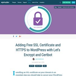 Adding Free SSL Certificate and HTTPS to WordPress with Let's Encrypt and Certbot