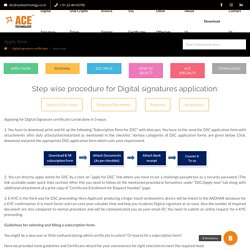 How to apply for dsc online