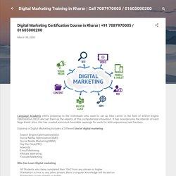 Digital Marketing Certification Course in Kharar