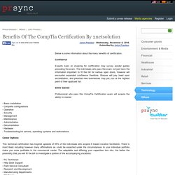 Benefits Of The CompTia Certification By 2netsolution