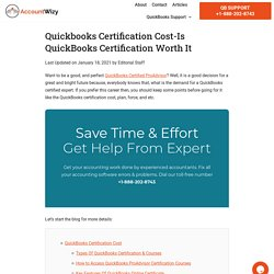 Quickbooks Certification Cost - Accountwizy.com