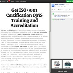 Get ISO 9001 Certification QMS Training and Accreditation