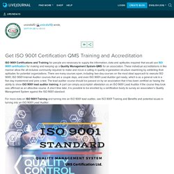 Get ISO 9001 Certification QMS Training and Accreditation: ursindia10