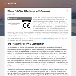 Unknown Facts About CE Certification And Its Advantages