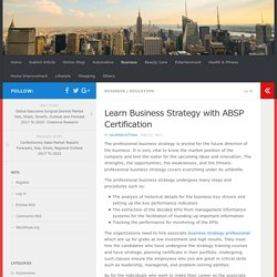 Learn Business Strategy with ABSP Certification