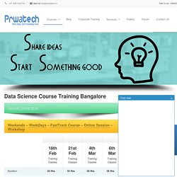 Data Science Course Training & Certification Bangalore India