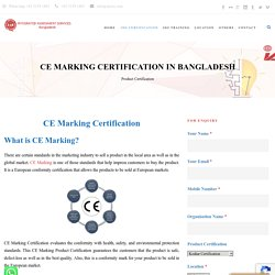 CE Certification in Bangladesh