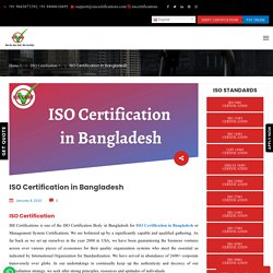 ISO Certification Body in Bangladesh