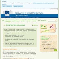 Certification biologique - Commission européenne