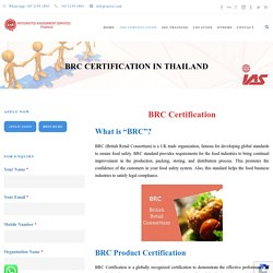 BRC Certification Body in Thailand
