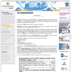 Certification formation PCIE bureautique Nord 59