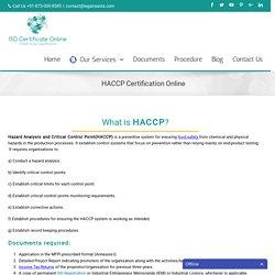 HACCP Certification Online - ISO Certificate Online