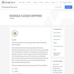Google Cloud Certifications