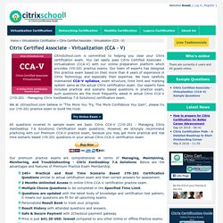 Citrix CCA-V Certification Online Practice Exam and Sample Questions