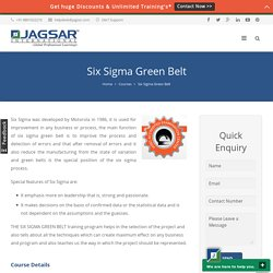 Six Sigma Green Belt Certification Online and Classroom Training
