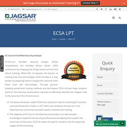 ECSA LPT Certification and Training through Online and Classroom