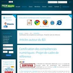 Certification des compétences numériques : Projet de cadre de référence