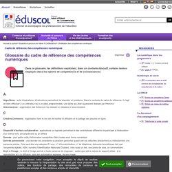 Glossaire CRCN