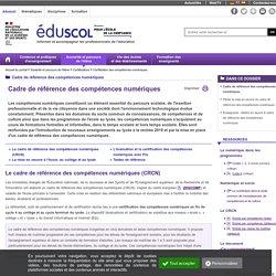 Certification des compétences numériques - Cadre de référence des compétences numériques
