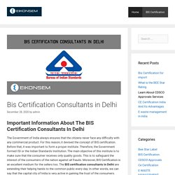 bis certification consultants in delhi