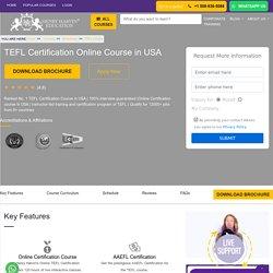 TEFL Certification in USA - Best TEFL Certification Course Online