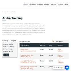 Aruba Training - Aruba Certification - Datacipher