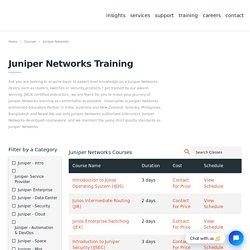Juniper Networks Training - Juniper Certification - Datacipher