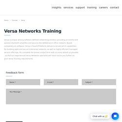 Versa Networks Training - Versa Networks Certification - Datacipher