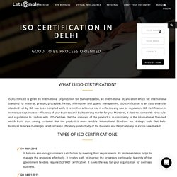 iso certification in delhi