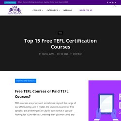 Top 15 Free TEFL Certification Courses - Henry Harvin Education