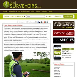 Land Surveyor Certification Info - All About Education and Certification