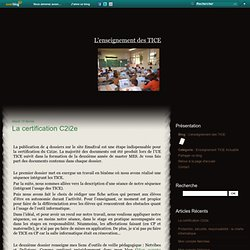 La certification C2i2e - L'enseignement des TICE