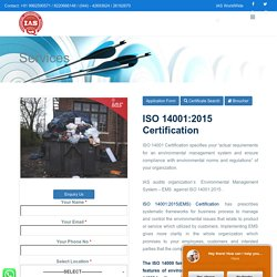 ISO 14001 certification Environmental Management System - ISO Certification