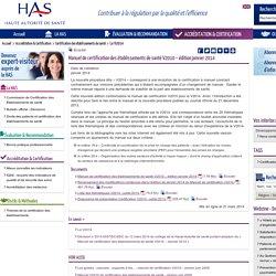 Manuel de certification des établissements de santé V2010 – édition janvier 2014