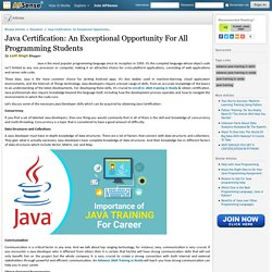 Java Certification: An Exceptional Opportunity For All Programming Students