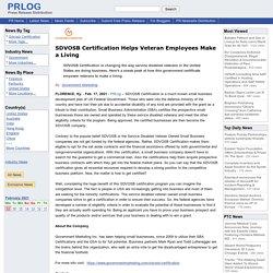 SDVOSB Certification Helps Veteran Employees Make a Living