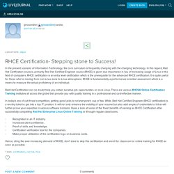 RHCE Certification- Stepping stone to Success!