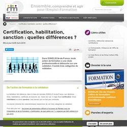 Certification, habilitation, sanction : quelles différences ?