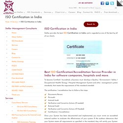 ISO Certification in India: 9000, 27001 & 27000 Services
