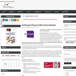 Certification ISO pour le Bilan Social Individuel