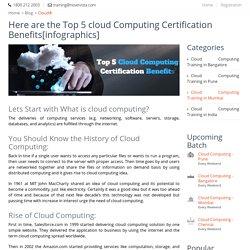 Top 5 Benefits of Cloud Computing Certification[infographics]