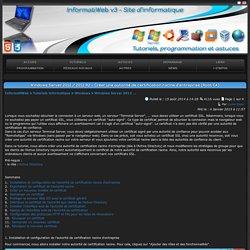 Windows Server 2012 / 2012 R2 - Créer une autorité de certification racine d'entreprise (Root CA) - Page 1 sur 4 - InformatiWeb
